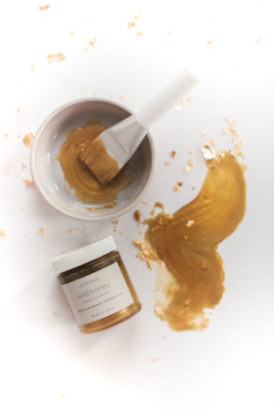 wild honey mask bowl and brush