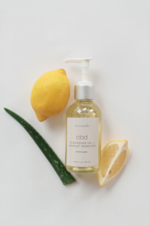CBD cleansing oil and makeup remover